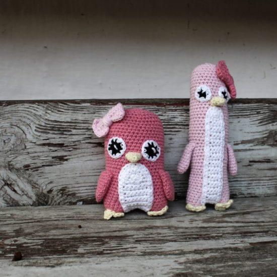 Hæklet-pingvin-pige-550x550 Tyksak Pingvin rangle