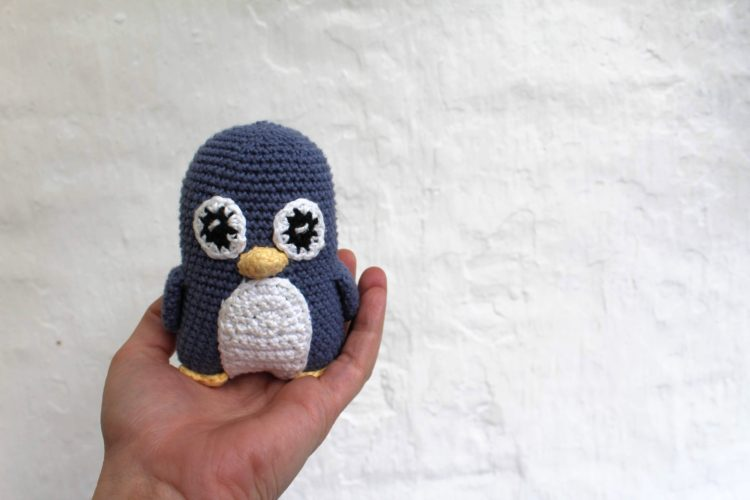 Hæklet pingvin