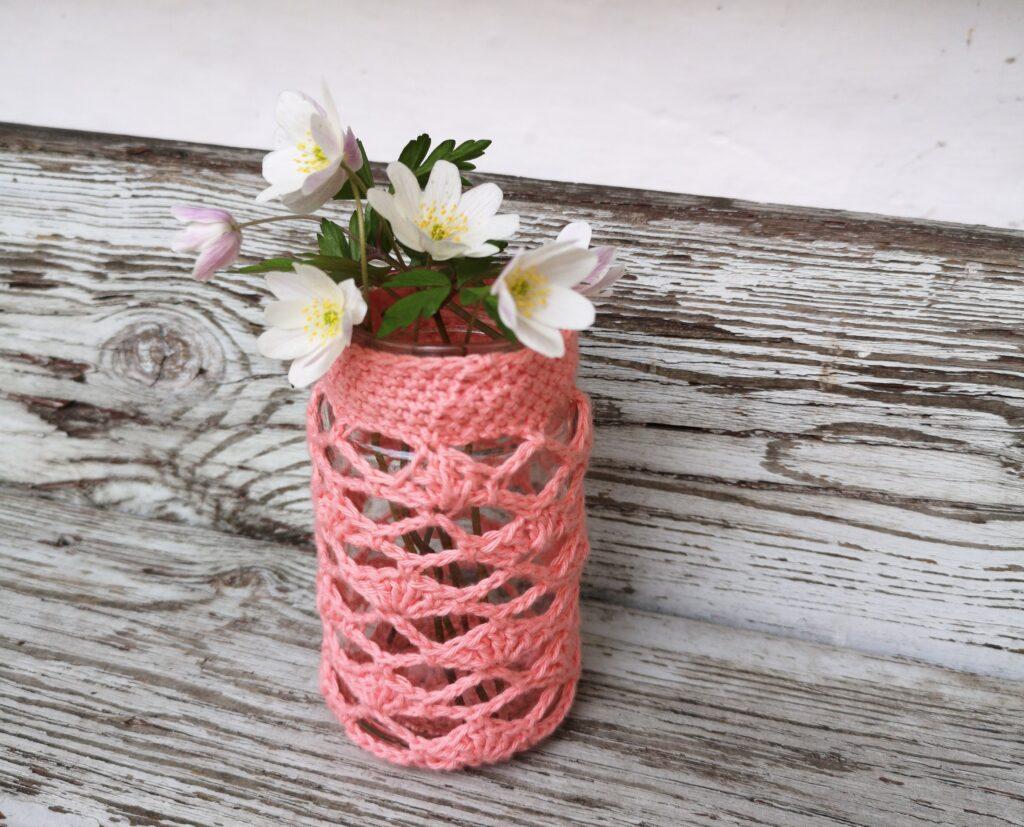HækletPynteglas Hæklet Pynteglas - Brug dine glas til sød sommer udsmykning